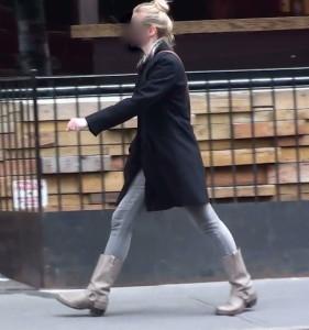 learn to walk correclty. Take shorter strides.