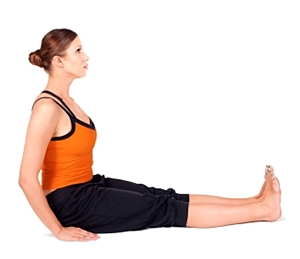 the lower back must be arched to perform dandasana correctly